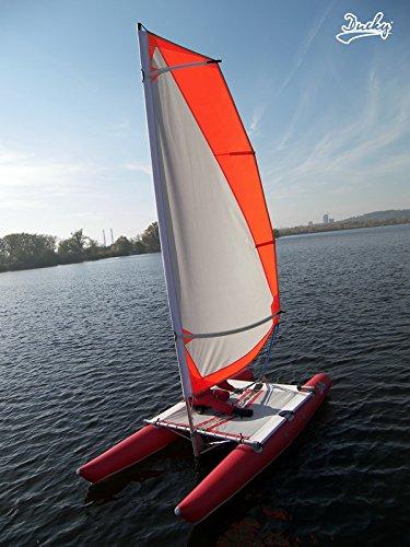 Inflatable Sailboat (Ducky 13 Inflatable Foldable Sailing Catamaran)