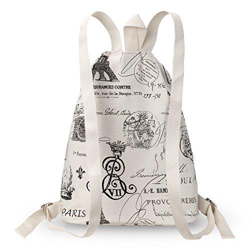Kuzy - Paris Backpack Bag Cotton Handmade for MacBook and Laptop, Books Travel Bags - Paris (Backpack Ibm)