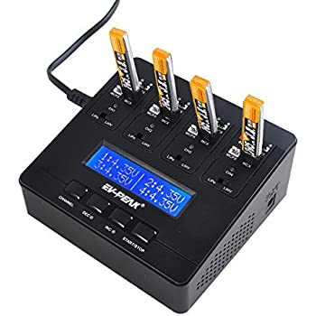 EV-PEAK e6 1S LiPo Battery Charger 1A LiPo LiHV AC/DC Charger for JST MCPX MCX MOLEX Connectors Tiny Whoop Blade Inductrix