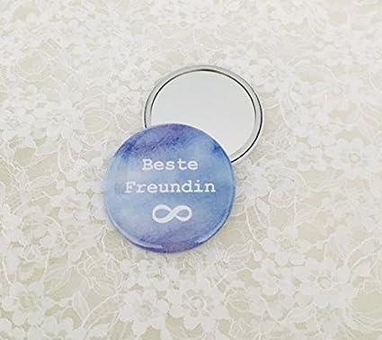 Mano Espejo Espejo de bolso Button mejor amiga, regalo ...