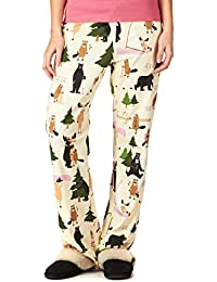 """Bear Hug"" Women's Cotton Jersey PJ/Lounge Pants"