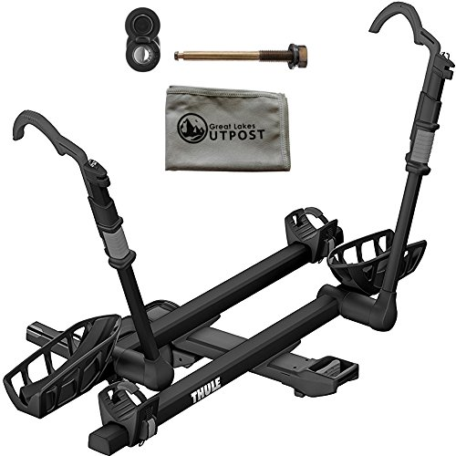 Thule T2 Pro XT 2-Bike Black 2'' Hitch Mount Rack with Snug-Tite Lock and Cloth by Thule (Image #1)