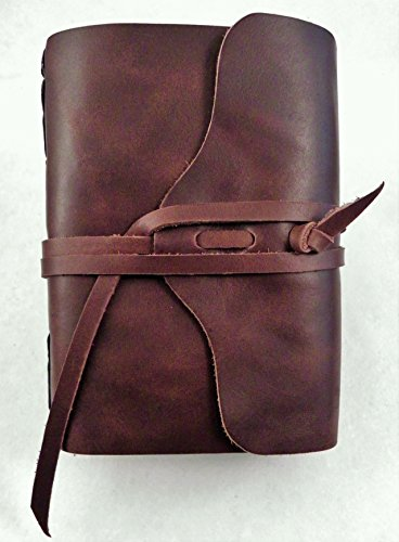 No.96 Rustic Handmade 4x6 Leather Photo Album - Leather Photo Journal