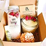 SHIP NEXT DAY Happy Birthday Gift Basket by Beets & Apples - Birthday Spa Gift Basket - Spa Gift set - Gifts for women - Birthday Gift ideas for Women (Arrive within 1-3 business days once shipped!)