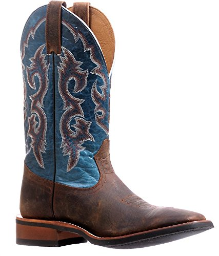 Bottes américaines - Rugged Country BO-0859-D (pied normal) - Homme - Cuir - marron/bleu