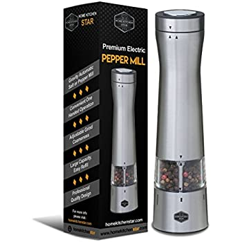 Amazoncom Trudeau One Hand Battery Operated Pepper Mill Black