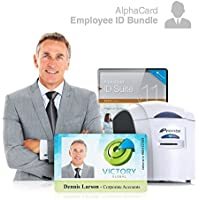 Employee ID Card Printer System for businesses: Everything you need for your business: AlphaCard printer, Employee design software, ID Supplies