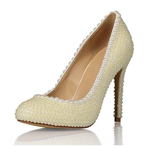 Beige Heel Sandales Ivory Compensées Miyoopark Femme 4