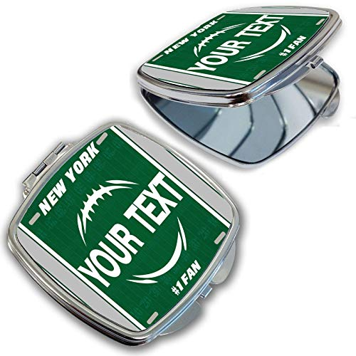 York New Mirror Jets Green - BRGiftShop Personalize Your Own Football Team New York Green and White Compact Pocket Cosmetic Mirror