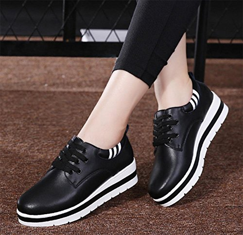 casual US6 UK4 las de Spring elevador fondo mollete 5 7 los Ms escogen los mujer 5 EU37 CN37 de los zapatos 5 del zapatos calzado grueso estudiantes de mujeres 1U4xqIw8H