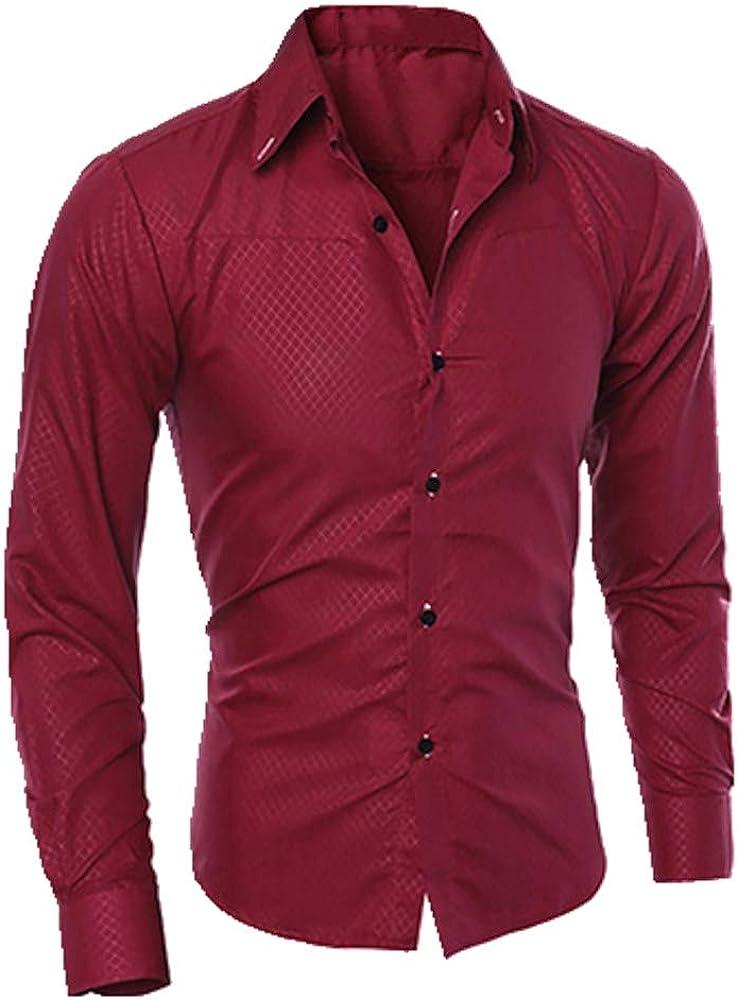 Camisa para hombre de manga larga, ajustada y suave, cómoda ...