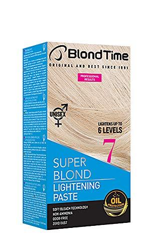 🥇 Blond Time Pasta Decolorante aclara hasta 6 tonos Sin Amoniaco Sin Polvo Sin Olor 120 ml