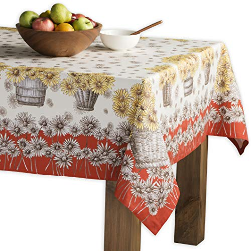 Maison d' Hermine Bagatelle 100% Cotton Tablecloth 60 Inch by 90 Inch