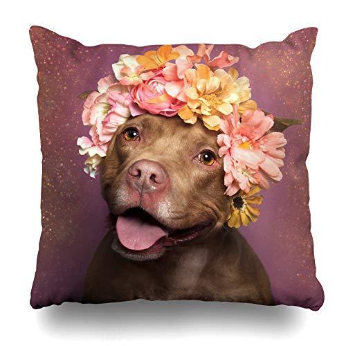 - Ahawoso Throw Pillow Cover Square 20x20 Inches Flower Power Topaz Decorative Pillow Case Home Decor Pillowcase