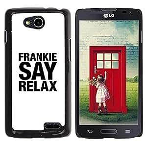 Be Good Phone Accessory // Dura Cáscara cubierta Protectora Caso Carcasa Funda de Protección para LG OPTIMUS L90 / D415 // Frankie Relax White Black Text Song Art