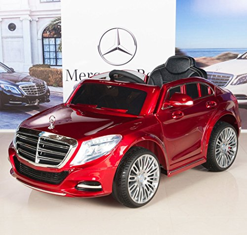 Mercedes-Benz-S600-12V-Kids-Ride-On-Battery-Powered-Wheels-Car-RC-Remote-Red