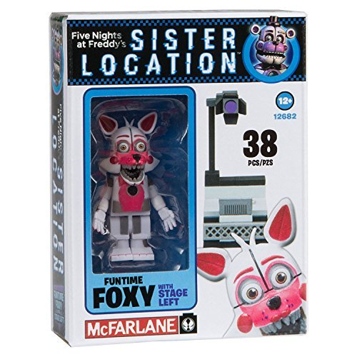NEW! Five Nights at Freddy's Sister Location Construction Set - Fun Time Foxy With Stage Left - 38 ()