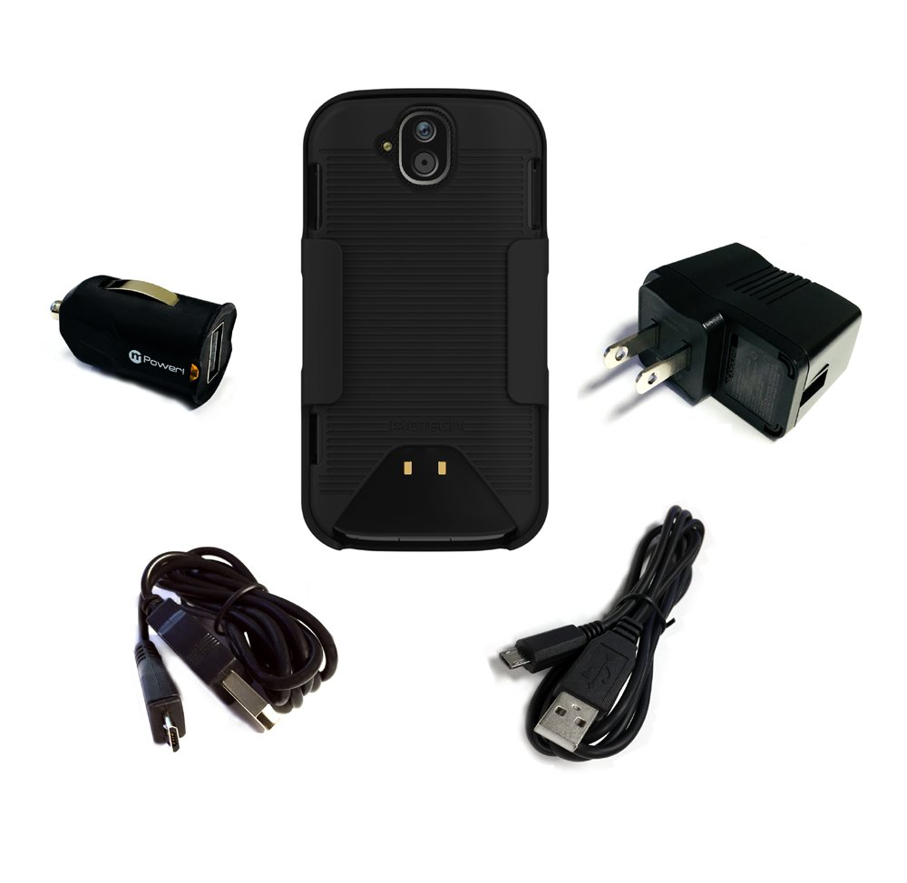 Kyocera DuraForce PRO E6800, E6810, E6820, E6830 with Belt Clip Holster  Combo and Power Pack Combo by Wireless PROTECH