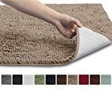 "The Original GORILLA GRIP Slip-Resistant Shaggy Chenille Bathroom Rug Mat, 3 Sizes and 6 Colors, Extra Soft and Absorbent, Machine-Washable, Perfect for Bath, Tub, and Shower (Beige, 30"" x 20"")"