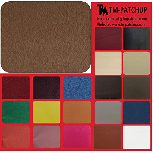 TMgroup, Leather Couch Patch, Genuine Faux Leather Repair Patch, Peel and Stick for Sofas, car Seats, Hand Bags,Furniture, Jackets, Large Size 8-inch x 11-inch (Tan)