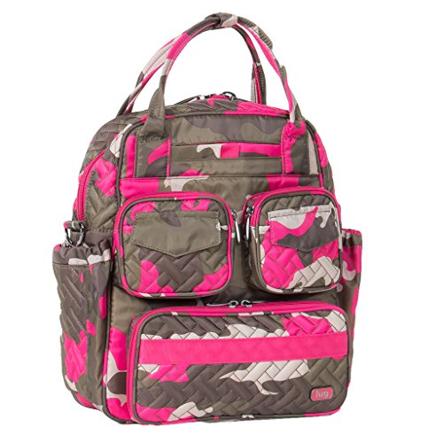 Lug Women's Mini Puddle Jumper Shoulder Bag, Camo Pink, One Size