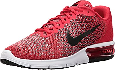 NIKE Men's Air Max Sequent 2 Running Shoes (11.5 D(M) US, University Red/Black/Cool Grey/Black)