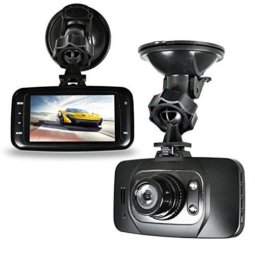 1080P HD HDMI CAR DVR Vehicle Video Camera CCTV Recorder Dash Cam G-sensor HDMI GS8000L - Night vision with 4 x LED lights - Suction mount to windscreen