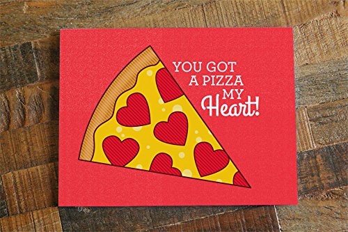 pizza love card pizza pun card pizza my heart pizza greeting card anniversary card romantic card valentines day card funny pun card buy online in