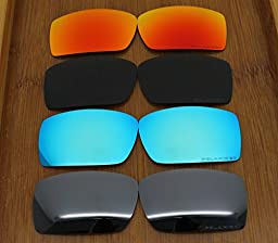 4 Pair Replacement Lenses for Oakley Gascan Sunglasses (Not Fit Gascan S) With Polarized Pack P8-1