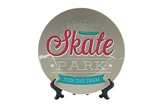 Piatti Retro Skate Park Ceramica Stampato