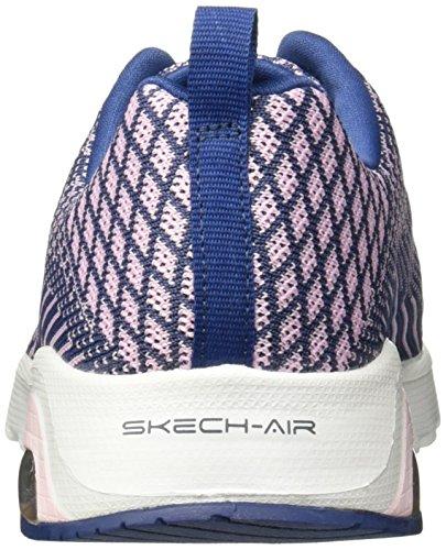 Skechers Womens Skech-air Varsity Training Shoe Navy / Pink