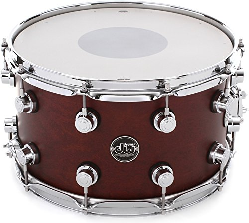 DW Performance Series Snare Drum - 8 Inches X 14 Inches Tobacco Satin Oil (Dw 14x8 Snare Drum)