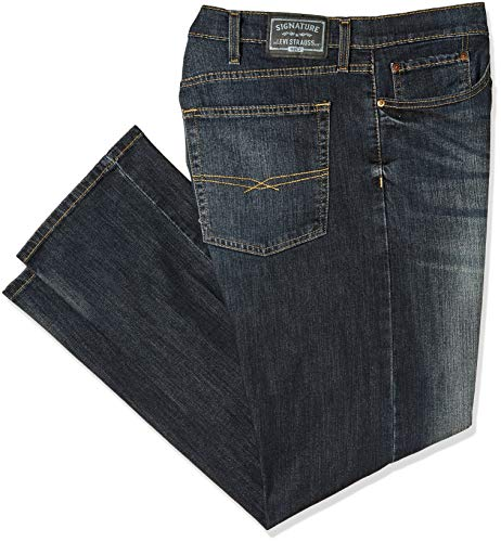 Signature by Levi Strauss & Co. Gold Label Men's Slim Straight Fit Jeans, Endeavor, 42W x 30L