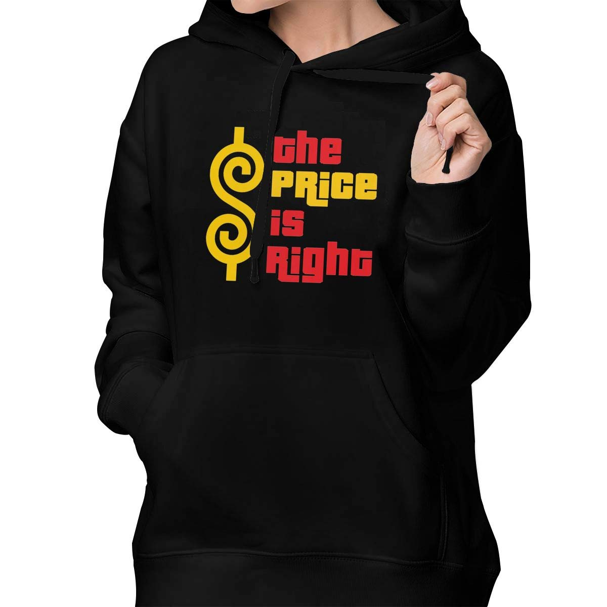 Womens Pullover Hoodie The Price is Right Shirts Shirt Hooded Sweatshirt Hoodies for Women Girls Clothes Outdoor Tops Black S