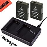 BM Premium (2-Pack) ENEL14, EN-EL14, EN-EL14A Battery and USB Dual Battery Charger Kit for Nikon Coolpix P7000, P7100, P7700, P7800, D3100, D3200, D3300, D5100, D5200, D5300, D5500, DF Digital SLR Camera