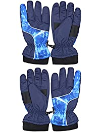 Boys (2 Full Sets) Thinsulate Lining Windproof Waterproof Snow Gloves
