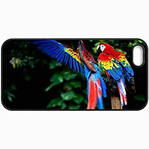 Customized Cellphone Case Back Cover For iPhone 6 plus, Protective Hardshell Case Personalized Macaw Black