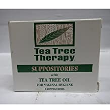 Pack of 5 x Tea Tree Therapy Vaginal Suppositories with Tea Tree Oil - 6 Suppositories