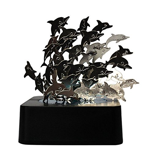 eSmart Creative Magnetic Sculpture Memorial Collectible Office Desk Souvenir Decor Great Holiday Gift Toy - Dolphin