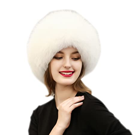 Wildeal Fashion Winter Men Women Cap Solid Color Ladies Faux Fur Trapper  Ski Russian Hat Windproof a150ff9ff343