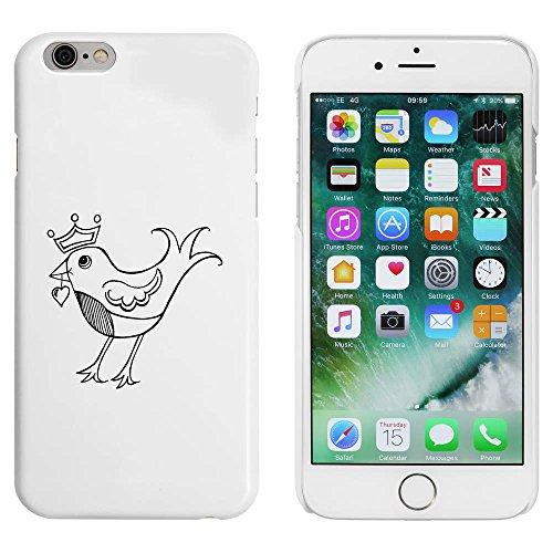 Weiß 'Rotkehlchen mit Krone' Hülle für iPhone 6 u. 6s (MC00005066)