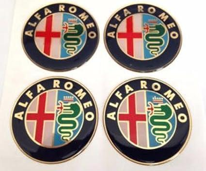 Alfa ROMEO /& # x2605; 4/pieza /& # x2605; 60/mm Pegatinas Emblema para llantas Buje Tapa Tapacubos