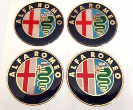 Alfa Romeo 4 Stück 75mm Aufkleber Emblem Für Felgen Nabendeckel Radkappen Auto