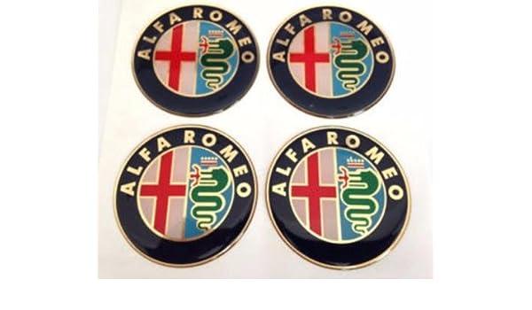 Alfa ROMEO & # x2605; 4 pieza & # x2605; 60 mm Pegatinas Emblema para llantas Buje Tapa Tapacubos: Amazon.es: Coche y moto