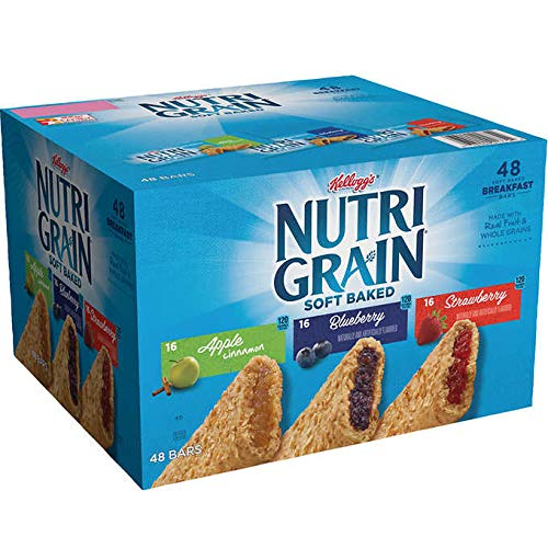 Strawberry Pretzels (Nutri-Grain Soft Baked Whole Grain, Real Fruit Breakfast Snack Cereal Bars Variety Pack: Apple Cinnamon/Blueberry/Strawberry - 48 Count (1.3 oz.))