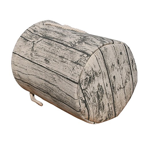 Jacone Stylish Tree Stump Shape Design Storage Basket Cotton Fabric Washable Cylindric Nursery Hamper with Rope Handles, Decorative and Convenient for Kids Bedroom