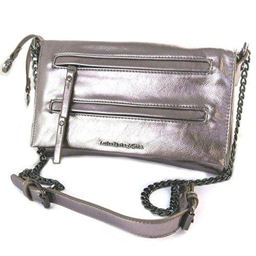 Bolsa de diseñador 'Lulu Castagnette'de metal gris - 27x18x4 cm.