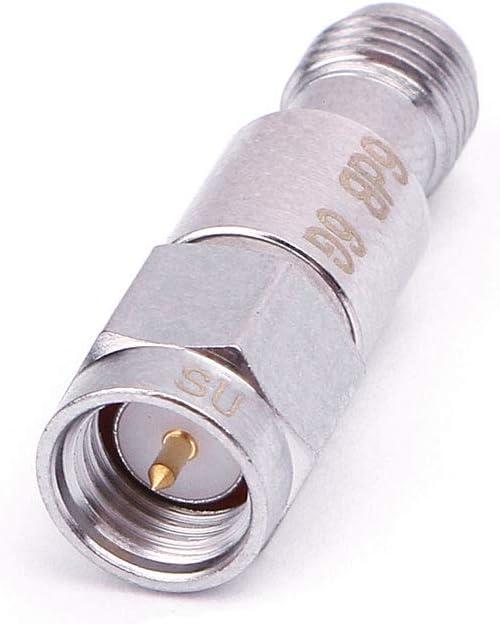 JOYKK Att/énuateurs coaxiaux Fixes SMA DC-6GHz 2W Fr/équence 6GHz Connecteurs Fixes SMA 3DB Sliver