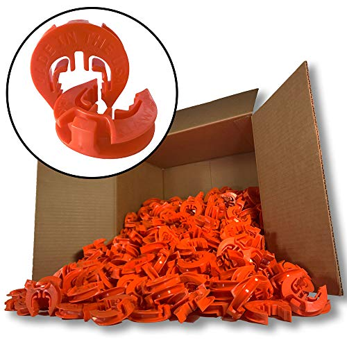 (Lock Jawz T-360 Electric Fence T-Post Insulator - Orange (Bulk Qty: 500))