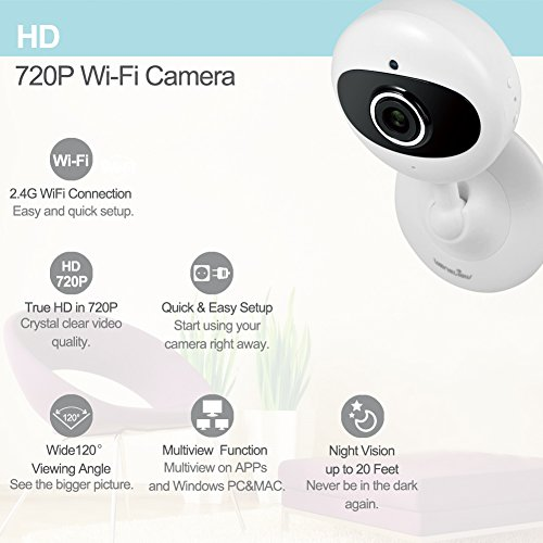 Wansview Home WiFi Camera, Wireless IP Security Surveillance System with  Night Vision for Home, Office, Shop, Baby, Pet Monitor with iOS, Android,  PC